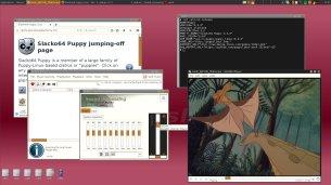 Puppy Linux slacko64 6.3.0, Openbox, Apps.