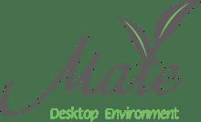 Il primo logo di MATE (che faceva riferimento all'erba da cui prende il nome).