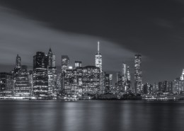 Foto's New York - Manhattan Skyline by Night panorma | Foto Tux Photography
