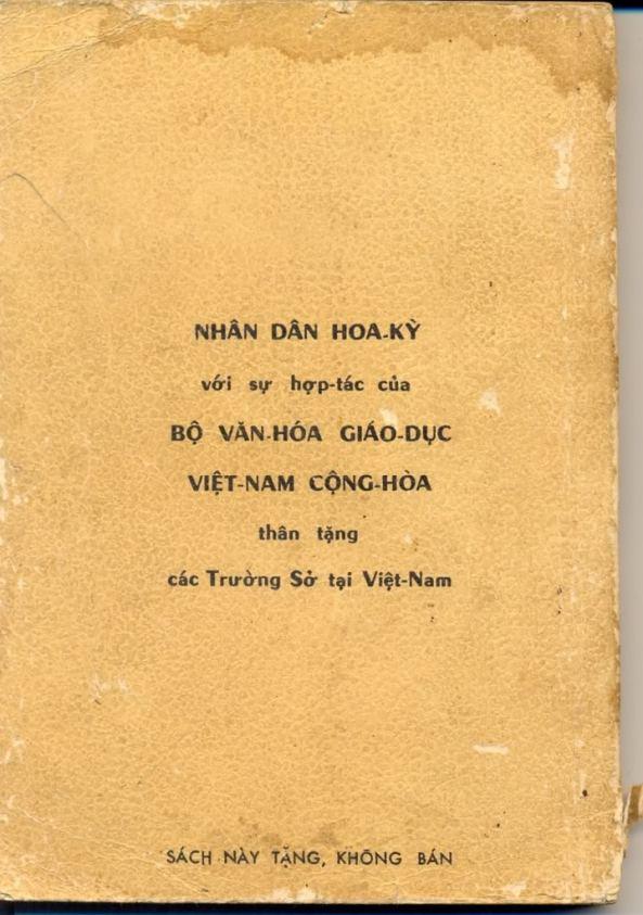 Trang bìa cuối sách Địa Lý lớp Ba