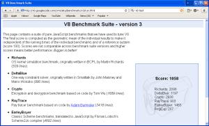 V8 Benchmark-Safari 4 Beta