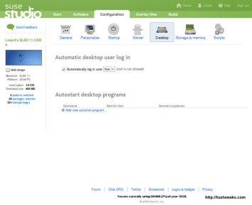 SUSE Studio Configuration-Desktop