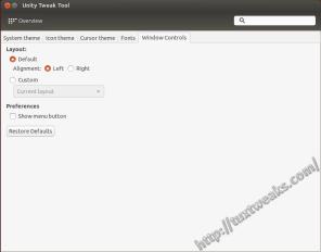 Unity Tweak Tool Appearance Window Contols Settings
