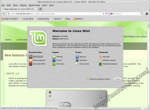 Mint 14 Welcome Screen