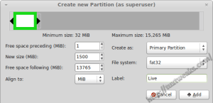 GParted Live Partition