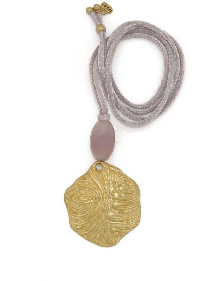 Collar ola dorada rosa nácar
