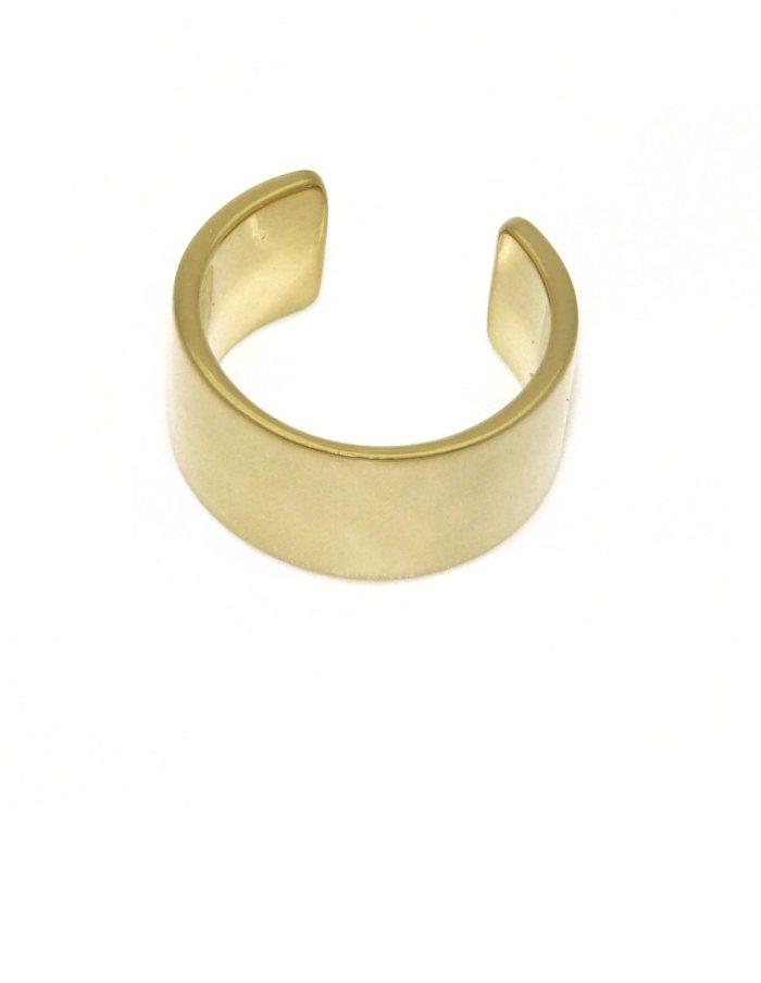 Anillo ancho chapado en oro