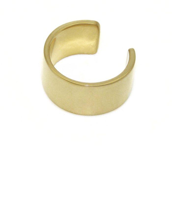 Anillo estrecho chapado en oro