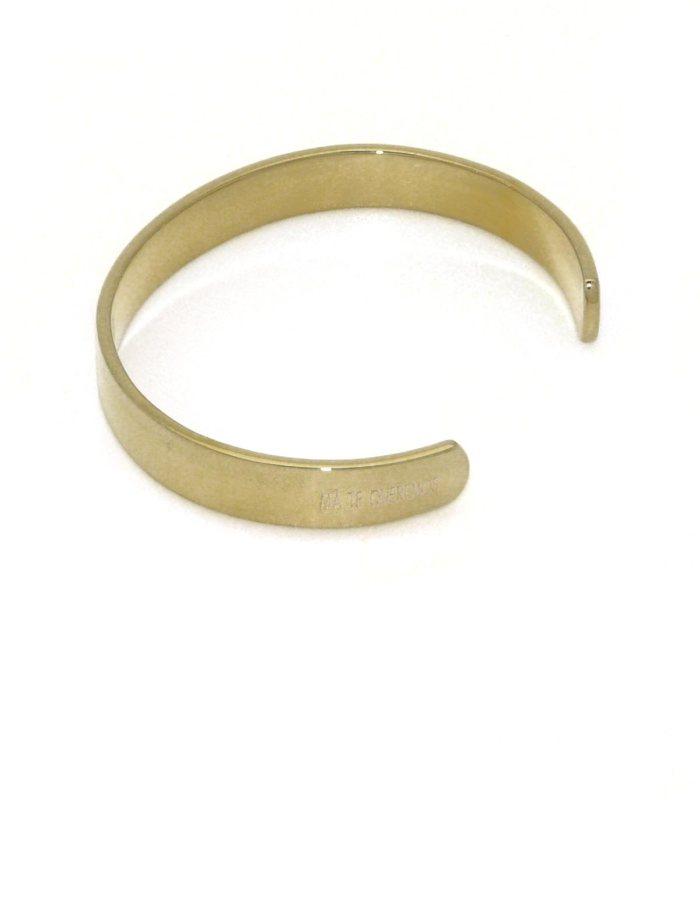 Pulsera ancha chapada en oro