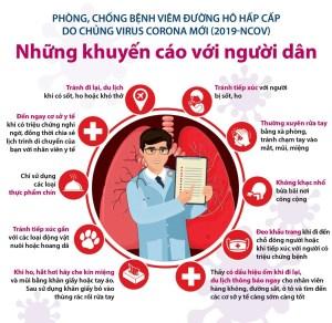 Bộ Y tế khuyến cáo phòng ngừa virus corona