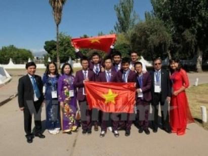 Đoàn Việt Nam tham dự IJSO 2014 (ảnh: VietNamPlus)