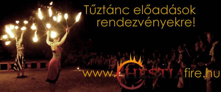 Hestia tűztánc show műsor rendelés