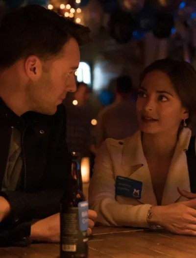 Joanna and Billy at the Reunion - Burden of Truth Season 3 Episode 1
