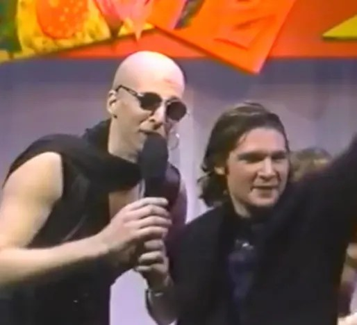 Howard Stern in drag with Corey Feldman