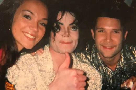 Corey Feldman and Michael Jackson and group