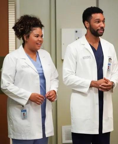 Winston and Ortiz - tall - Grey's Anatomy Season 18 Episode 3