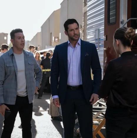 TALL Luci, Dan, and Chloe Back - Lucifer Season 5 Episode 3