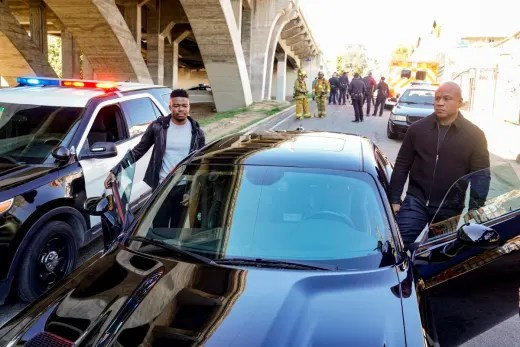 Arriving at Work - NCIS: Los Angeles Season 11 Episode 19