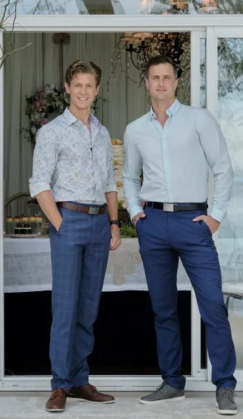 Connor and Kevin Pose at the Wedding - Chesapeake Shores Season 5 Episode 6