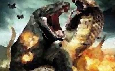 『コモドVSキングコブラ』(B級映画 2005年) マイケル・パレ&ミシェル・ボース主演