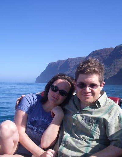 Michelle McNamara and Patton Oswalt