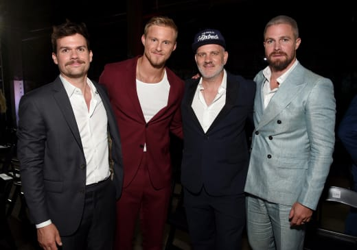 Michael Waldron, Alexander Ludwig, Mike O'Malley, and Stephen Amell - Heels