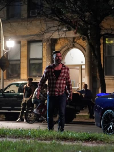 Adam Arrives to the Scene - tall - Chicago PD Season 9 Episode 2