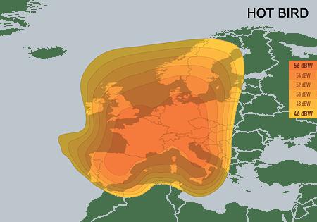 HotBird-Mapa