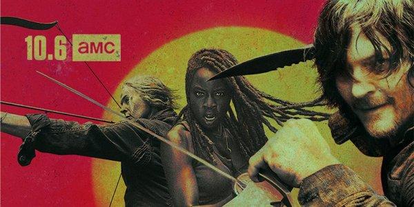 The Walking Dead decima stagione key art poster nicotero