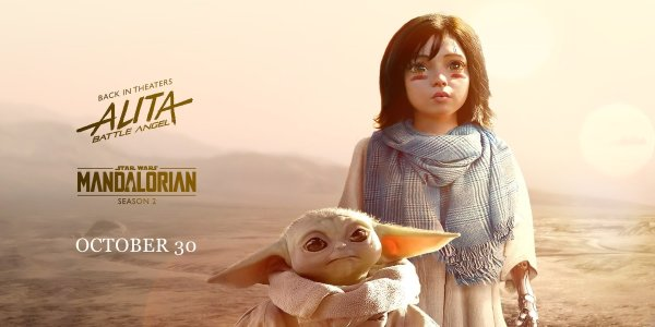 The Mandalorian: Baby Yoda incontra Alita in una fan art