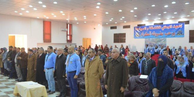حفل افتتاح الدورة الدراسية الوطنية العملية للشارة الخشبية الخاصة بالقائدات ببوسعادة