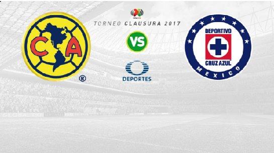 América vs Cruz Azul en Vivo por Internet Liga MX 2017