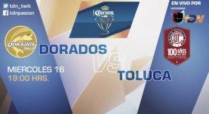 Dorados vs Toluca en Vivo Online Copa MX 2017