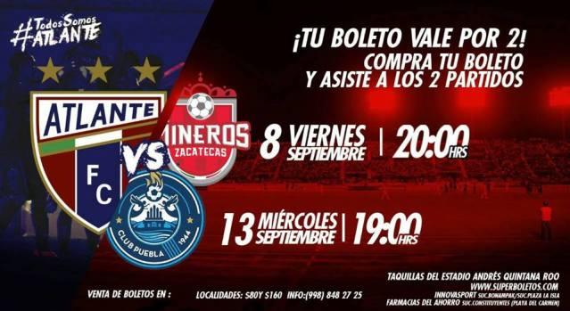 Atlante vs Mineros de Zacatecas en Vivo Ascenso MX 2017
