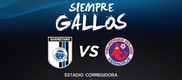 Gallos vs Tiburones en Vivo por Internet Liga MX 2018