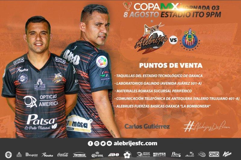 Partido Alebrijes vs Chivas TDN en Vivo Copa MX 2018