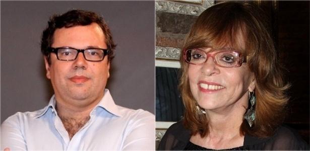 Os autores João Emanuel Carneiro e Gloria Perez