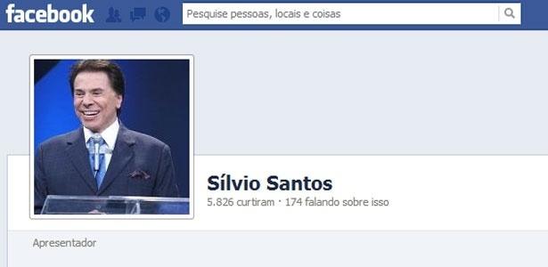 Perfil falso de Silvio Santos no Facebook