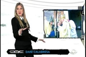 """Dani Calabresa estreia no """"CQC"""""""