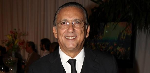"""Galvão Bueno na festa """"Vem aí..."""", realizada pela Globo para promover sua programação de 2013"""
