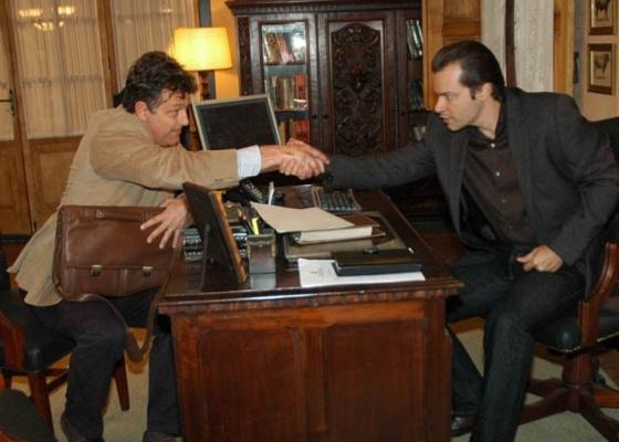 Eduardo Lago e Heitor Martinez durante gravação de Ribeirão do Tempo (8/9/10)