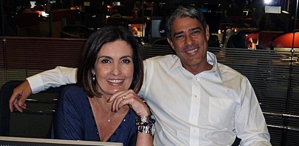 """Fátima Bernardes e William Bonner na última reunião de pauta juntos no """"Jornal Nacional"""" (5/12/11)"""