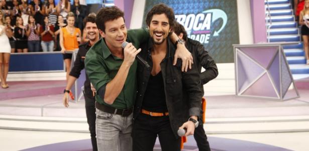 Rodrigo Faro e Marcos Mion, apresentadores da Record