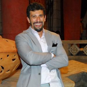 Milhem Cortaz em gravação da Record (2012)