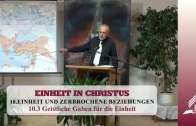 10.3 Geistliche Gaben für die Einheit – EINHEIT UND ZERBROCHENE BEZIEHUNGEN | Pastor Mag. Kurt Piesslinger