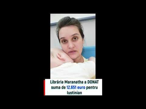 Librăria Maranatha a donat suma de 12.651 euro pentru Iustinian Niculiță!