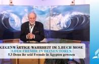 5.3 Denn ihr seid Fremde in Ägypten gewesen – DER FREMDE IN DEINEN TOREN | Pastor Mag. Kurt Piesslinger