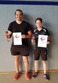 Marco Weis, Vereinsmeister A-Klasse, Celina Domscheit, Vereinsmeisterin B-Klasse