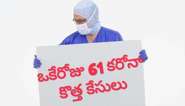 తెలంగాణలో కరోనా విజృంభణ,ఒకే రోజు 61 కేసులు, 61 carona cases in TS