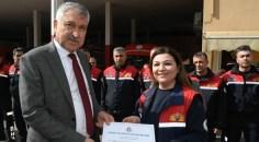Karalar'dan itfaiye personeline sertifika